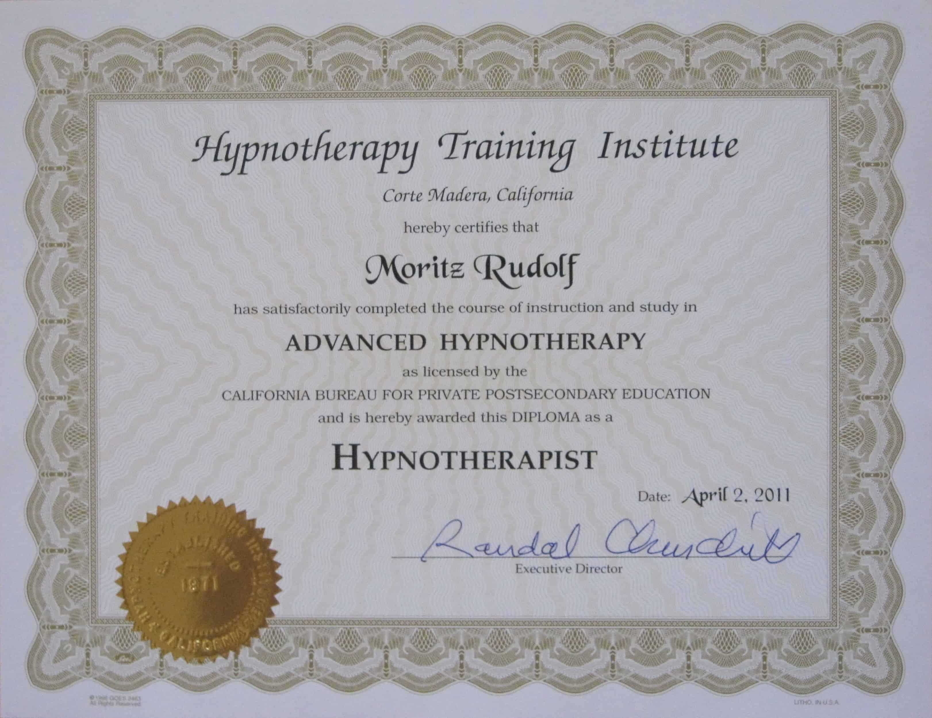 HTI Hypnotherapist Zertifikat 1 - Home